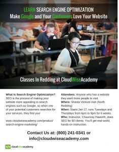 Search Engine Optimization Education at Cloud Wise Academy