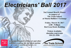 Electricians' Ball 2017 Postcard