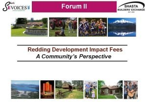 Redding Development Impact Fees The Community's Perspective