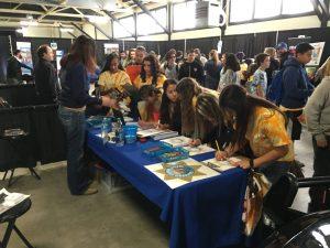 Students Visit CHP Table Glenn County Future Journey Career Fair 2017