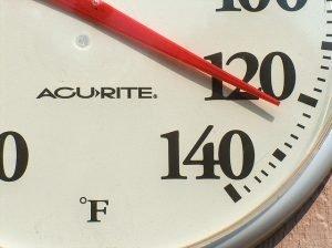 Heat Illness.Thermometer